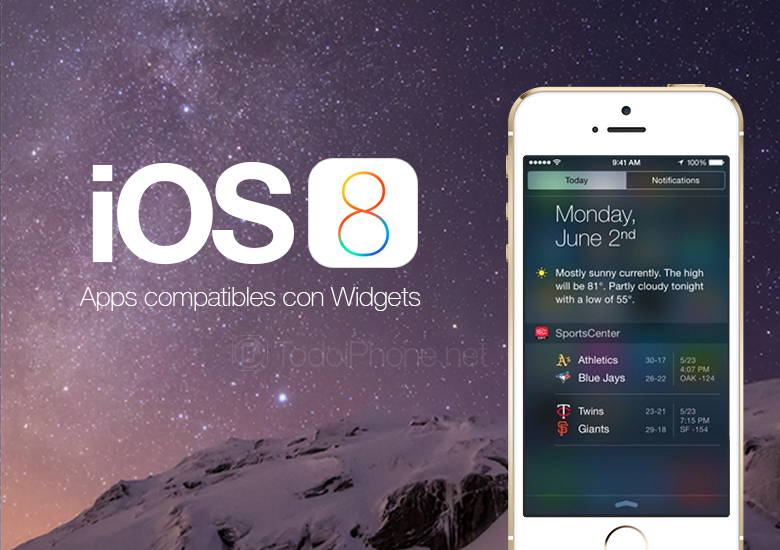 Apps compatible with the new iOS 8 Widgets for iPhone and iPad 3