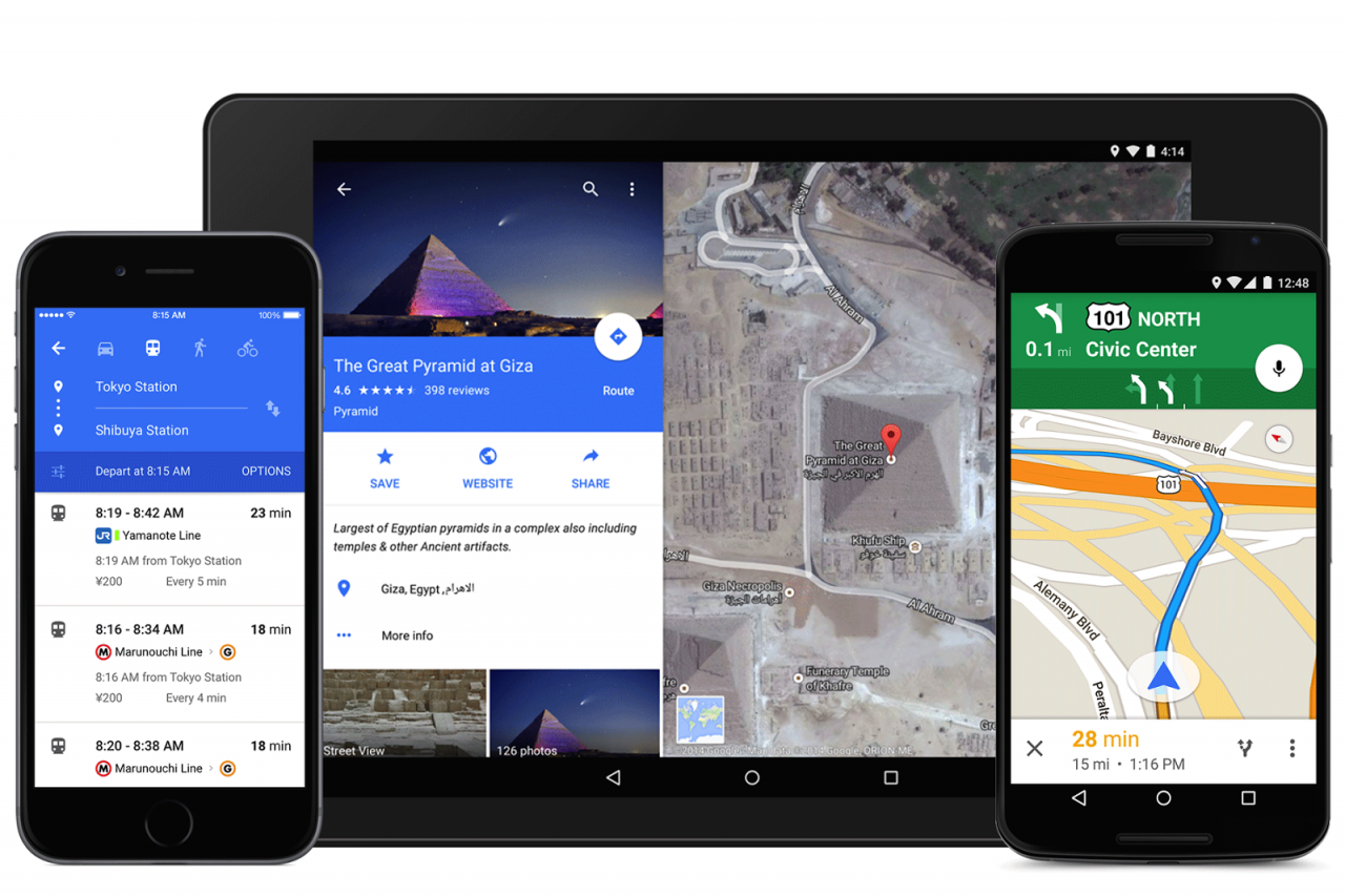 Auto route recalculation arrives at Google Maps 3