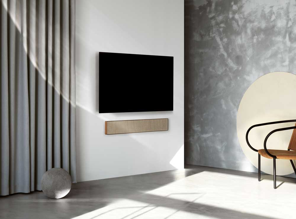 Beosound Stage, the first sound bar of Bang & Olufsen