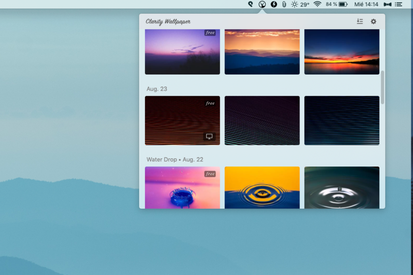 Clarity Wallpaper, a free app to discover minimalist wallpapers in macOS