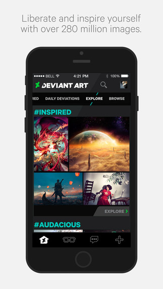 DeviantArt, the official app of the designer community comes to the iPhone 6