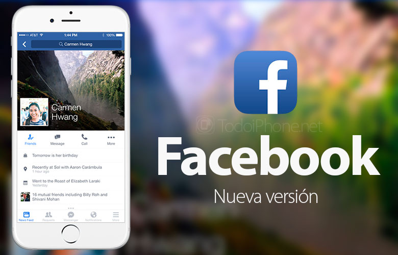 Facebook for iPhone the search engine is updated and improved 2