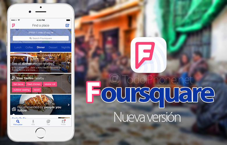 Foursquare is now also compatible with iPad Air, iPad and iPad mini 5