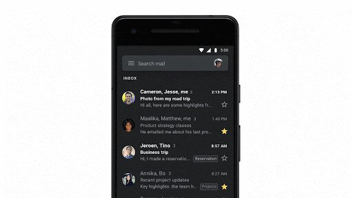 Image - Gmail activates dark mode for everyone