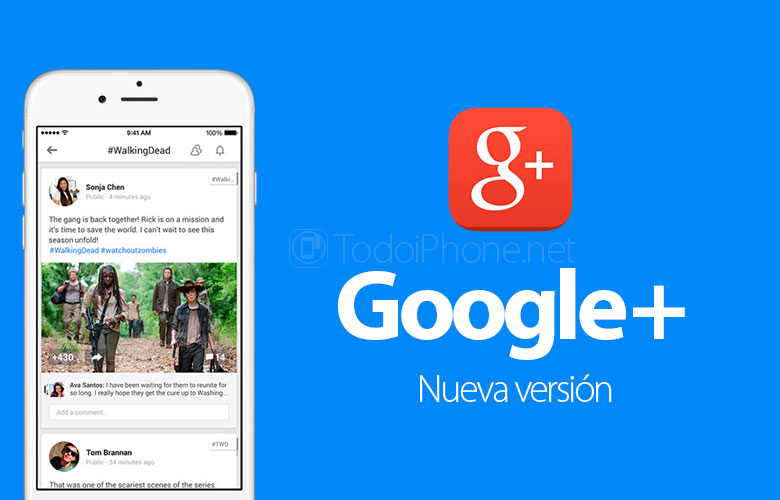 Google+ is updated with support for the Retina HD resolution of the iPhone 6 and iPhone 6 Plus 2
