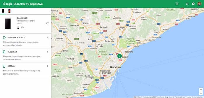 Find my device in browser