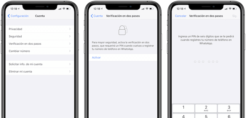 WhatsApp - Activate two-step verification