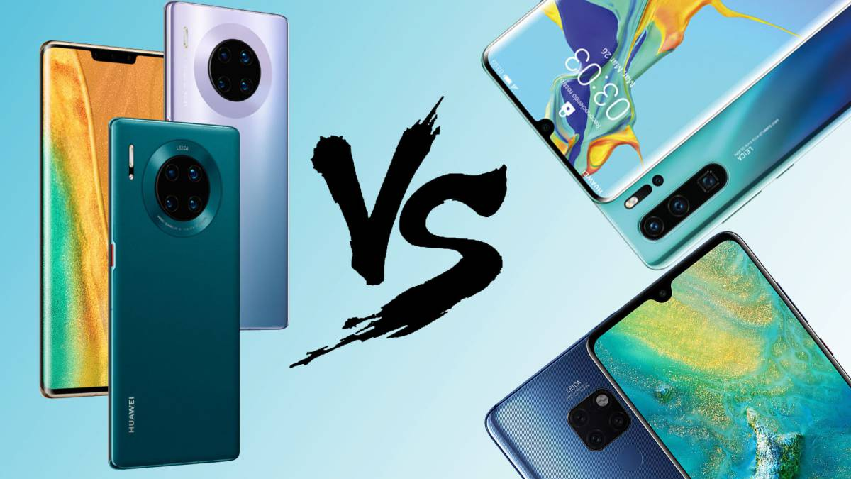 Huawei Mate 30 vs Mate 20, Huawei P30, Huawei P30 Pro: differences, features and comparison 2