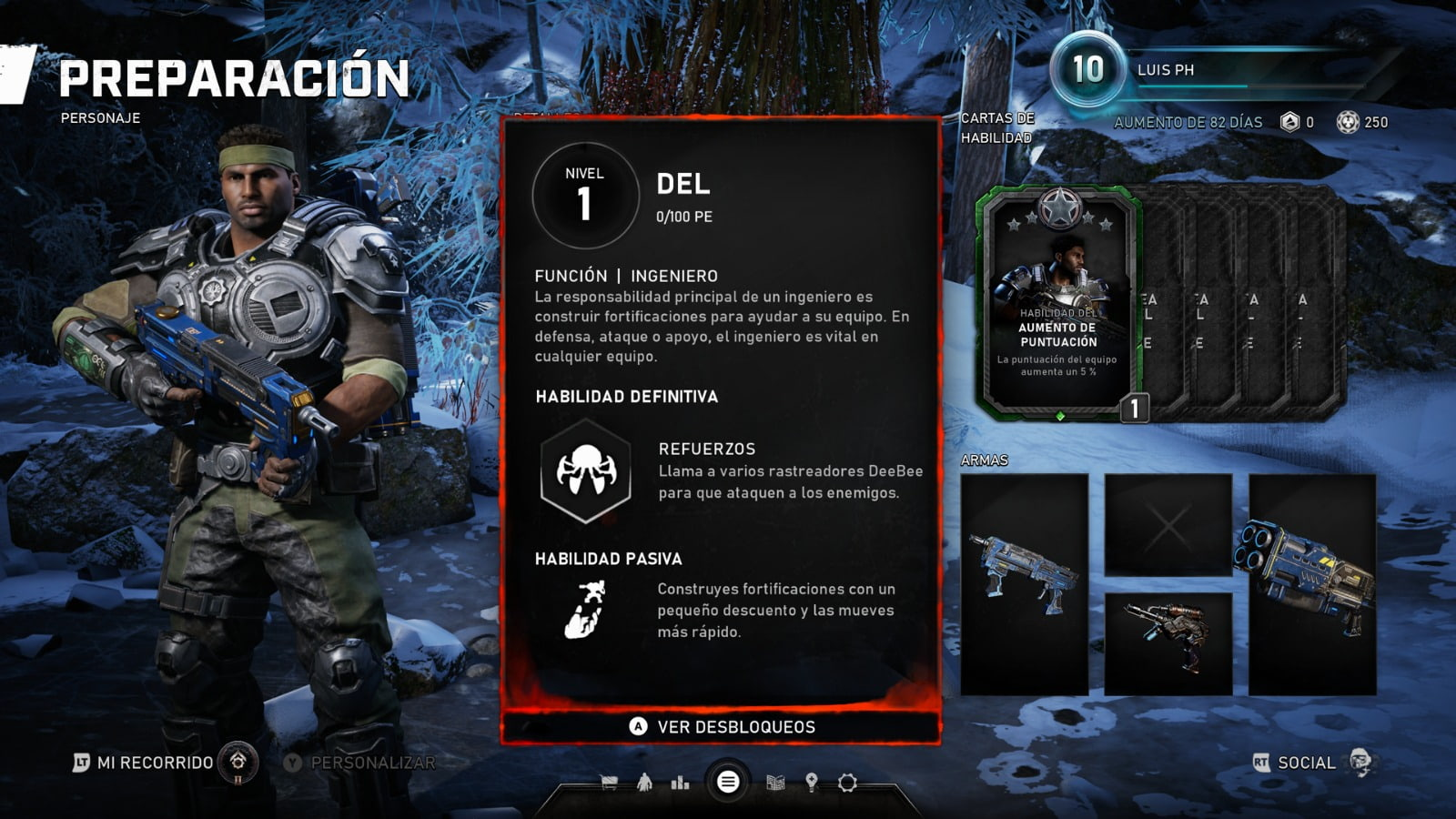 Know all the skill cards of the Horde mode of Gears 5 1