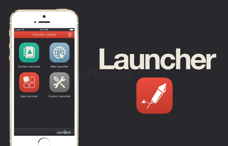 Launcher, your favorite apps in the iPhone and iPad Notification Center 2