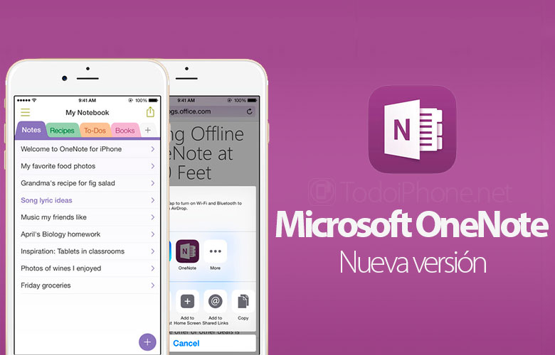 Microsoft updates OneNote for iPhone 6, iPhone 6 Plus and Touch ID 2
