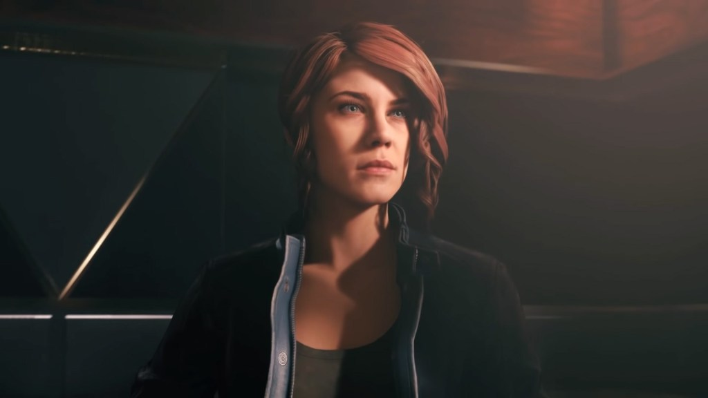 Photo shows Jesse Faden, protagonist of Control, Remedy's newest game.