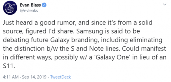 Samsung: Galaxy Self Note merged from next year 2