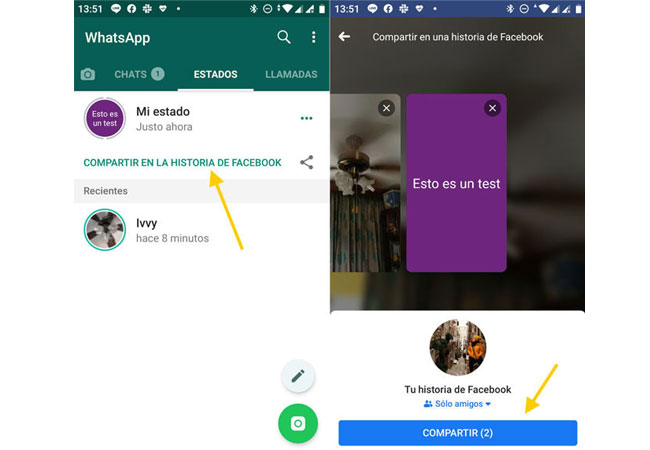 Steps to share WhatsApp states as stories of Facebook!