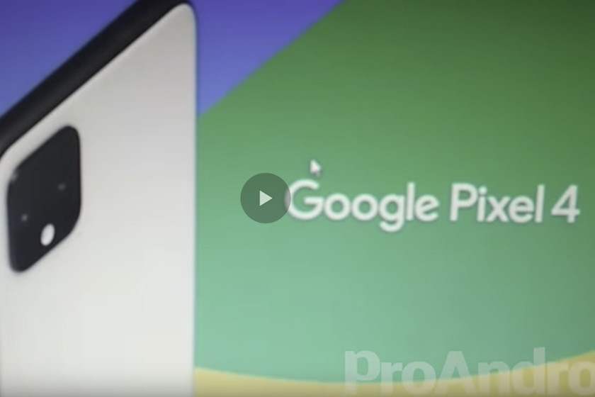 The Google Pixel 4 appears in a promotional video that anticipates its design and various features
