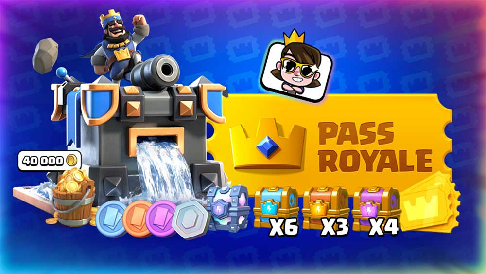 These are the Pass Royale prizes in season 3 of Clash Royale