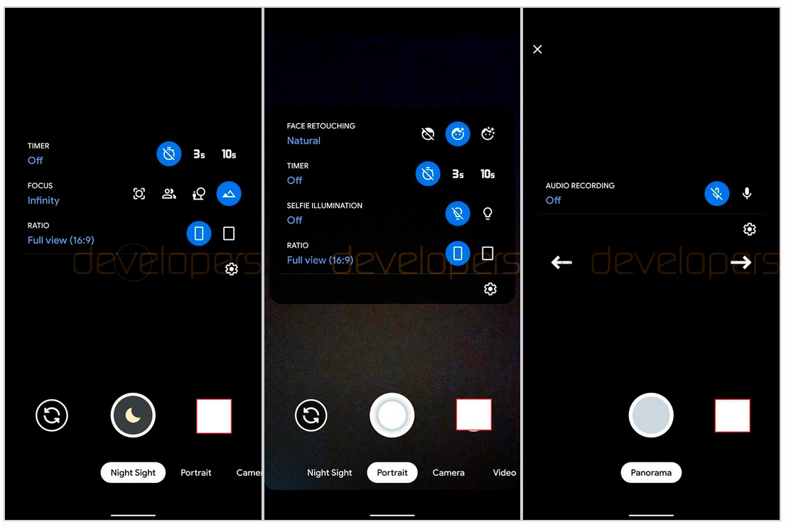 This is the new Pixel 4 camera application, Google Camera 7.0