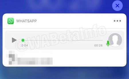WhatsApp voice message in notifications