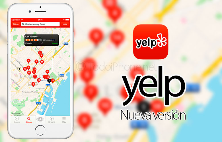Yelp updates its app for iPhone 6, iPhone 6 Plus and a new button arrives 3