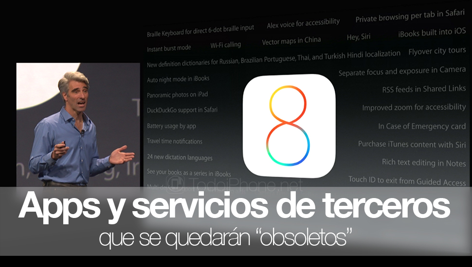 """iOS 8: Third-party apps and services that will be """"obsolete."""" Dropbox, WhatsApp and others 2"""