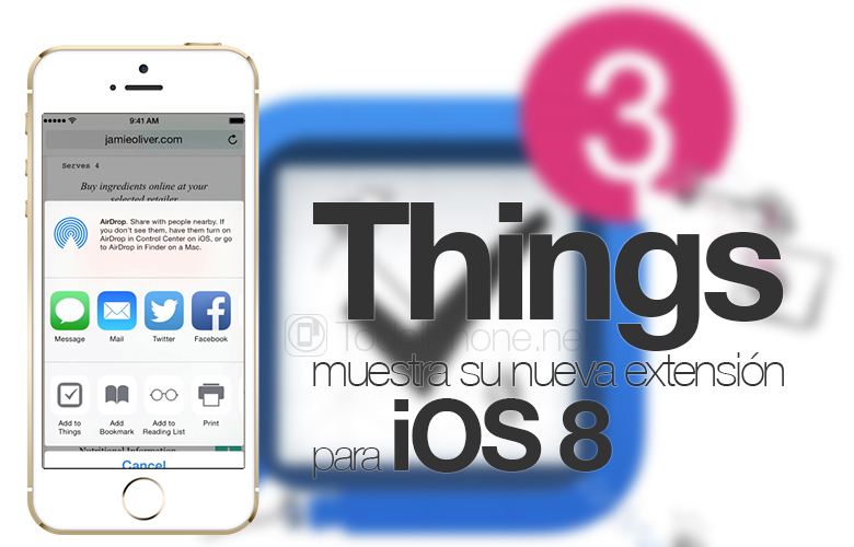 Things shows its new extension for iOS 8 on video 2