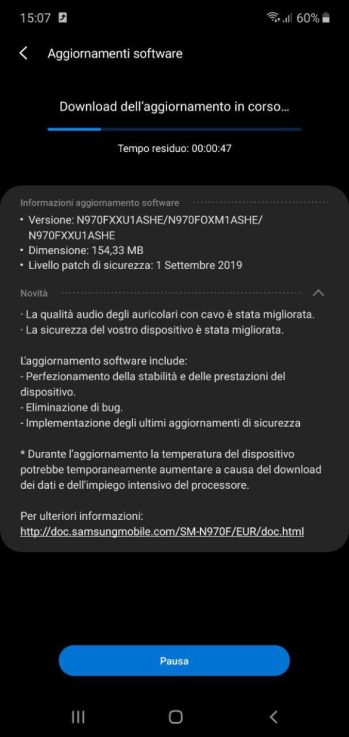 Complete list of changes for Galaxy Note        10