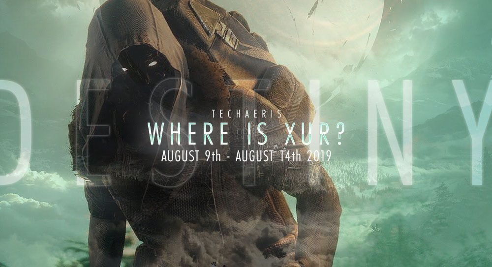Where is Xur and what does he sell? Sunday 9-14 August