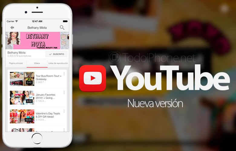 YouTube on iOS now play videos at 60 fps