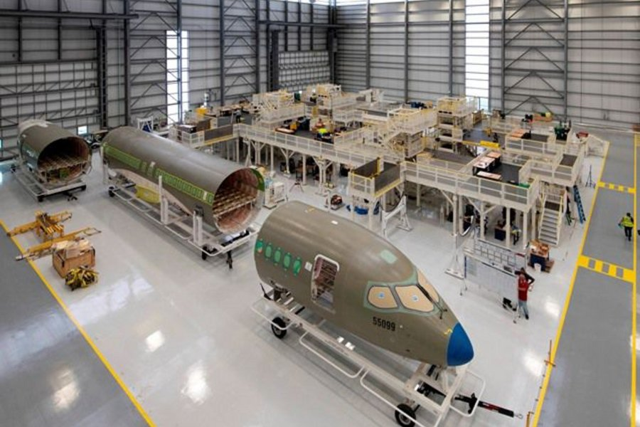 Airbus launched an assembly line for its A220s in the United States