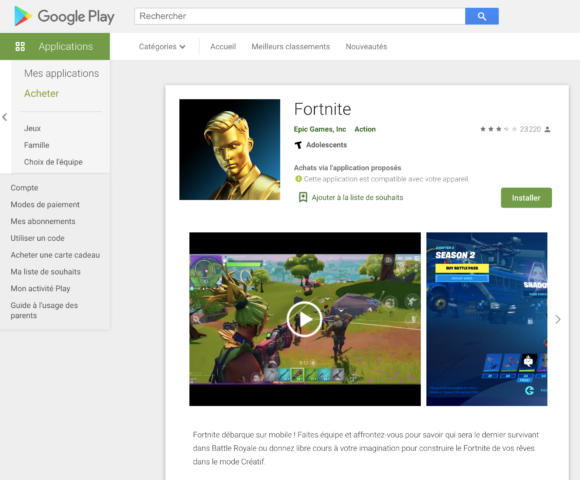 Fortnite now available on the Google Play Store! | Geek Diary
