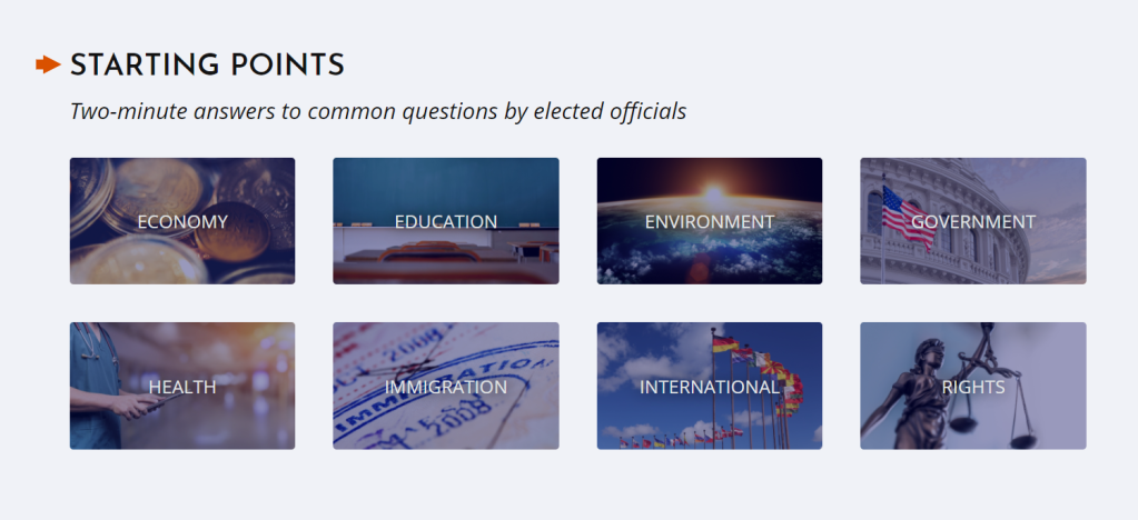 At the outset, the youth policy site already points out the important issues that may be of interest to you and that are covered by delegates in their starting point videos
