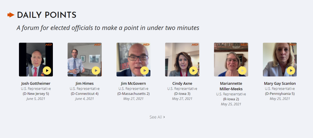 The daily points, or daily points, is a section where attendees are invited to talk about an - important - topic of their choice within two minutes